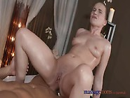Massage Rooms Horny Teen Has Her Tight Pussy Oiled Up And Fucked