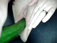Cucumber Made Her Pussy Squirt