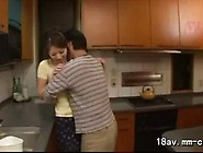 Fucking A Pretty Asian Wife In The Kitchen While She's Maki