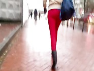 Nice Girl S Ass In Tight Red Pants