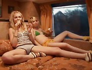 4 Sexy As Hell Little Teen Girls Getting Freaky On The Road