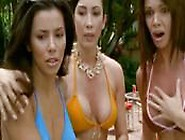 Eva Longoria And Maria Bravo Lesbian Kiss Each Other
