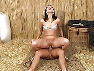 Farm Girl Fucks Hard In The Stable