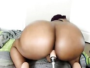 Sexy Black Dildoing Her Ass And Masturbating