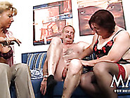 Naughty Grannies Give Good Blowjob To Lucky Neighbor
