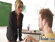 Busty Blonde Milf Teacher Banged At Her Desk