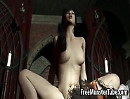 Hot 3D Cartoon Brunette Getting Fucked By A Vampire