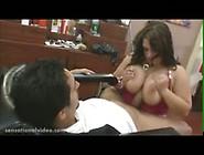 Big Tit Bbw Wife Fucks Barber While She Waits For Husband