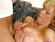 Compelling Short-Haired Blonde Lets Her Lover Do The Pussy Drill