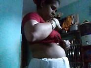 Indian Wearing Saree After-Bath