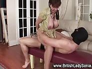 Mature Brit Gets Cumshot On Ass