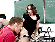 Horny Melissa Monet As A Teacher Seduces Her Student And Sucks H