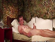Threesome Loving Twink Cums On His Own Face