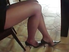 High Heels And Sexy Nylons Foot - Xhamster. Com