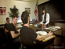 Several Students Fuck All Holes Of Sex Appeal Teacher Marica Has