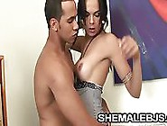 Laisa Lins - Gorgeous Shemale Swallowing A Vein Filled Pennis
