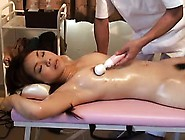 Attractive Asian Girl With Lovely Titties Gets Massaged And