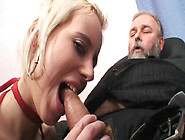 Wicked Blonde Is Hungry For An Old Man's Dick