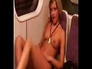 Hot Blonde Girl Stripes In Underground