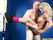 Horny Trainer Fucks Sporty Busty Blondie In Various Positions