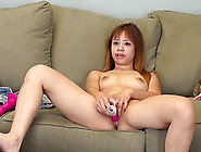 Asian Babe Shows Off Her Skills At Making Her Pussy Cum