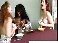 Three Lactating Moms Sharing Their Milk For Breakfast Cereal