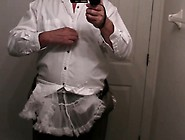 Diapered Sissybaby Wearing Diaper And Frilly Petticoat