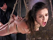 Juliette March Endures Brutal Bondages And Made To Cum!