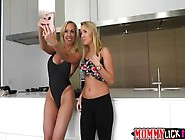 Cute Teen Cali Gets Her Pussy Licked By Her Slutty Mom Brandi