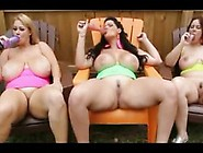 Busty,  Fat Girls Are Licking Their Sex Toys And Masturbating Lik