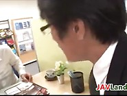 Squirting Milk In An Office