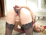 Wife Lily Labeau Masturbates For Her Tied Up Husband