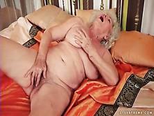 Solo Granny Masturbates Her Hairy Cunt