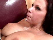 Gianna Michaels Takes A Blast Of Hot Dong-Cream On Her Mouth