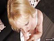 Hot Underwear-Clad Mom Blowing Her Big-Cocked Son