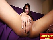 Petite Thai Ladyboy Plays With Her Cock