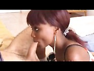 Ebony African Teen Blowjob Cum In Mouth