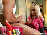 Lusty Teacher Misty Vonage Gives Blowjob To Young Guy Mikey Butd