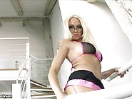 Stacey Silver Banging In Fishnets