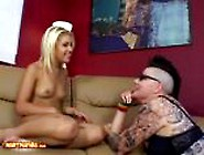Teen Aubrey Adams Gets Her Pussy Licked By A Bull Dyke