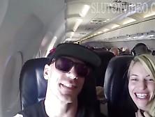 Girlfriend Sucks Dick On An Airplane