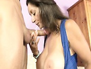Big Breasted Milf Persia Reveals Her Hairy Slit And Milks A Long