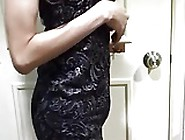 Crossdressing In Tight Bodycon Lace Dress