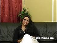 Latina Choked In Rough Oral Sex