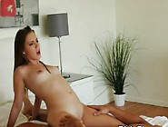 Cheating Brunette Girlfriend Drilled In Multiple Positions