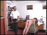 Caning In The Teacher's Study