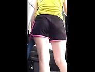 Carwash Skinny White Girl Shorts