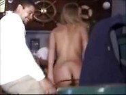 Blonde Wife Strip In Public Bar