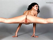 Big Tits Brunette Is Wicked Flexible