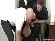 Secretary Take Down:boss & Friends Tie Her Up & Fill Her Pussy W